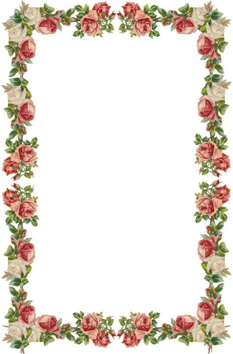 flower frame template dtgtddgged stationary decoupage and