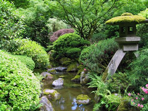 japanese garden pictures file portland japanese garden creek jpg