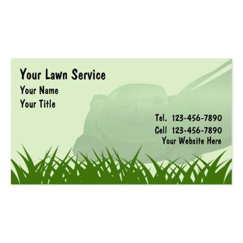 Lawn Mowing Business Card Templates by Lawn Care Business Cards Zazzle