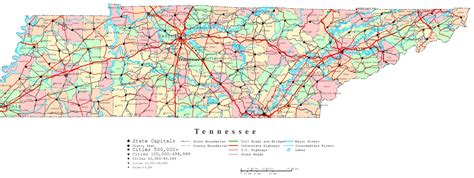 map of tennessee counties tennessee printable map