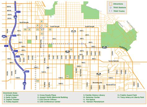map of salt lake city streets salt lake city map free printable maps