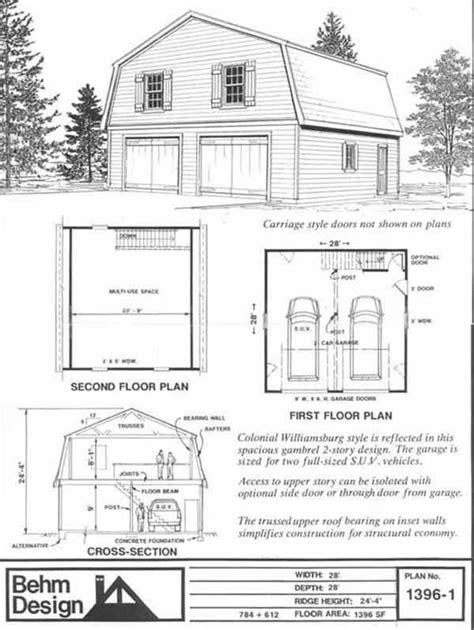 gambrel attic truss design garage ideas pinterest gambrel roof garage plans 1396 1 garage plans