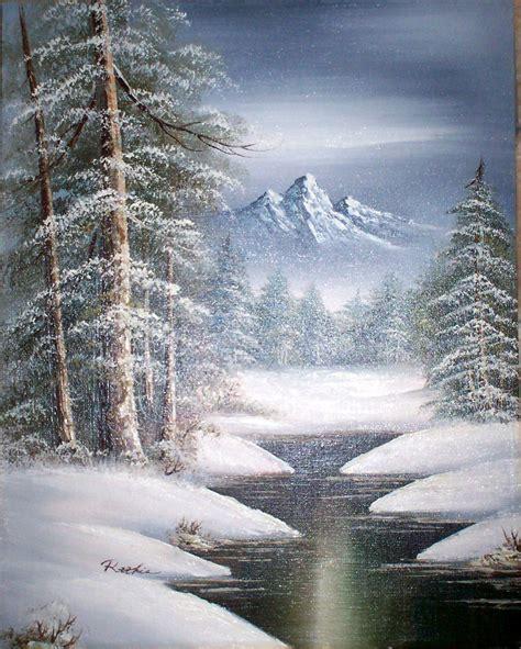 bob ross paintings snow snow painting snow watercolor hawaii