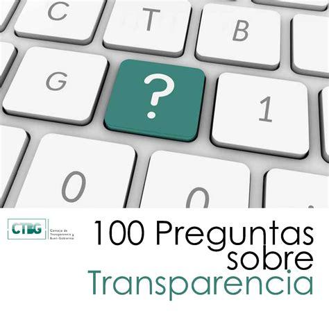 preguntas de cultura general sobre turismo gu 237 a 100 preguntas sobre transparencia ayuntamiento de