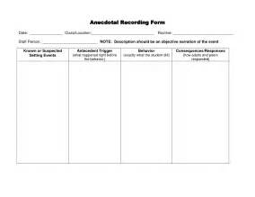 anecdotal template anecdotal record exles invitation templates