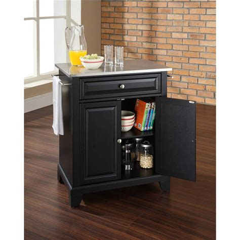crosley furniture lafayette stainless steel top black crosley furniture newport stainless steel top portable