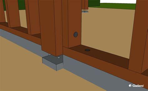 schuur bouwen regels zelf overkapping bouwen met plat dak van lariks douglas hout