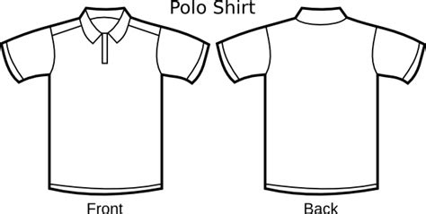 Polo Shirt Template Clip Art Free Vector In Open Office Drawing Svg Svg Vector Illustration Polo Shirt Design Template