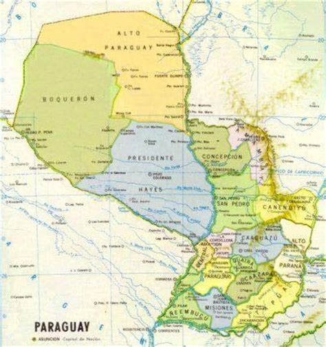 paraguay world map maps of paraguay