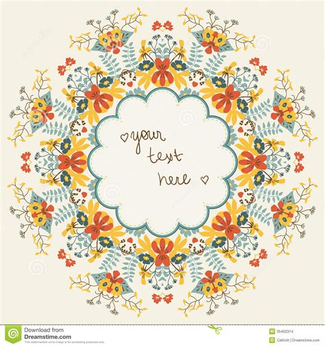flower pattern in circle ornamental round floral pattern stock vector image 35402314