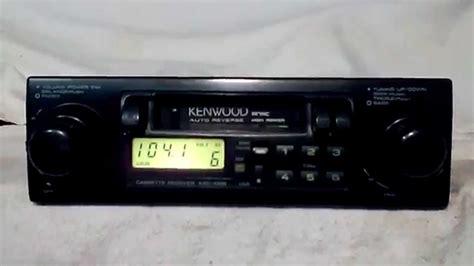 cassette car stereo vintage kenwood krc 1006 am fm cassette car stereo