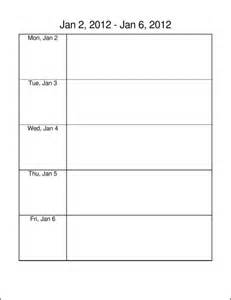 saturday to friday calendar template 9 best images of monday through friday planner printable