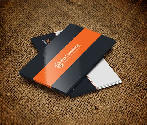 it consultant business card template free psd ipro consulting business cards