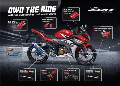 Aksesoris Cover Radiator Honda New Cbr 150r Led K45g Facelift Ori Ahm 3 aksesoris honda cbr 150r