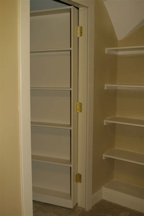 Closet Door Bookshelf Secret Bookcase Door To Attic Room Stashvault