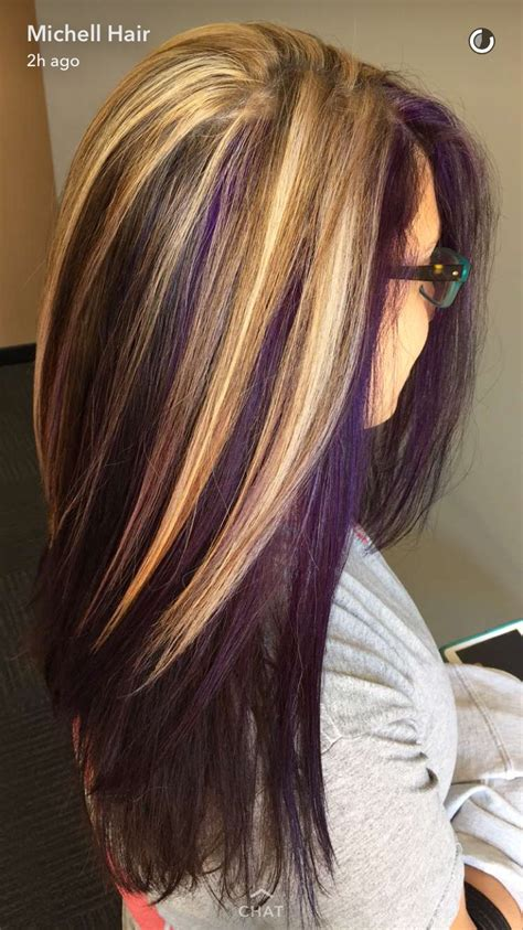 hairstyles with blonde and purple highlights blond and purple hair hair pinterest more purple