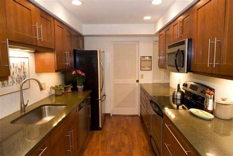 galley kitchen cabinets fantastic space saving galley kitchen ideas
