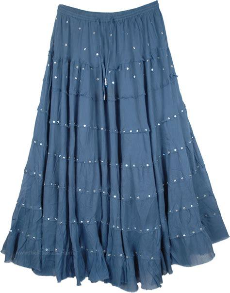 sequin skirt in cobalt blue sequin skirts