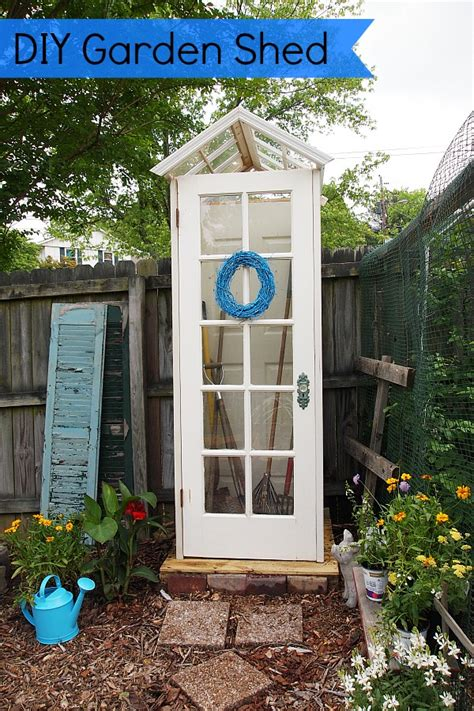 diy garden shed  upcycled materials