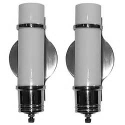 Deco Wall Sconces Pair Of Streamline Deco Wall Sconces At 1stdibs