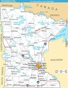 Map Of Minnesota Large Detailed Map Of Minnesota State With Roads And Major