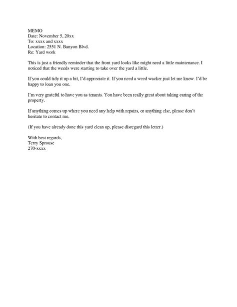 tenant letter template how to manage tenants 171 terry sprouse