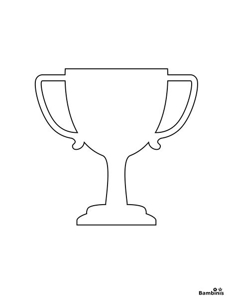 Trophy Coloring Page trophies colouring pages
