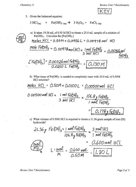 Stoichiometry Worksheet Answers by Stoichiometry Practice Worksheet Answers Abitlikethis