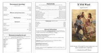 lds sacrament meeting program template lds mormon ysa ward sacrament program bulletin