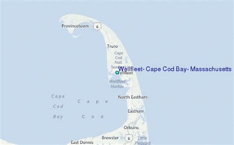 where is cape cod located on a map wellfleet cape cod bay massachusetts tide station