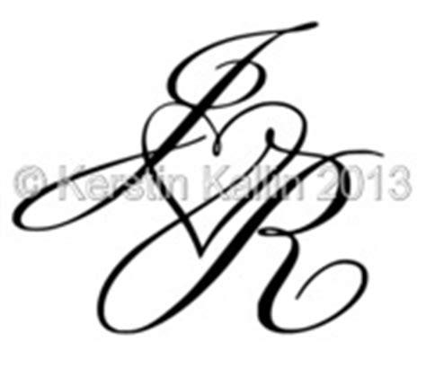 tattoo letters jr monogram med bokst 228 verna j och r monogramsidan