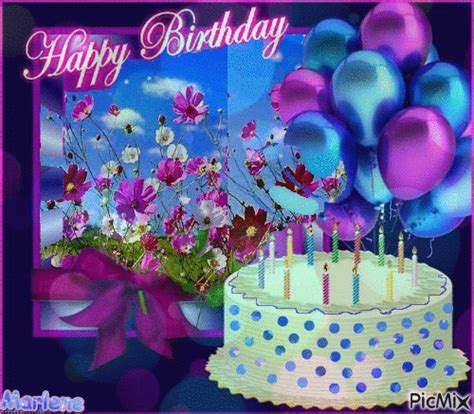 Balon Cake Happy Birthday birthday balloons cake happy birthday gif pictures