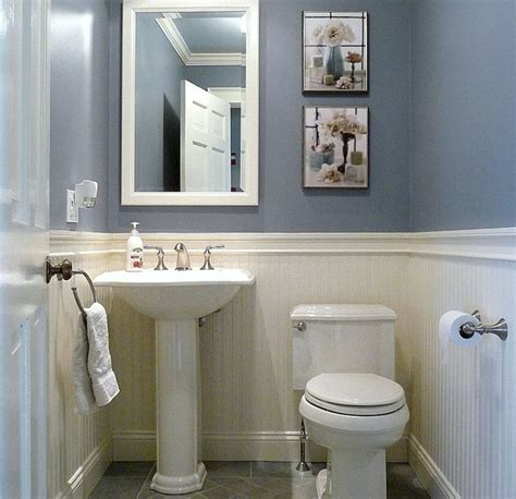 Half Bathroom Design Ideas | dunstable blue and white half bath half baths bath and