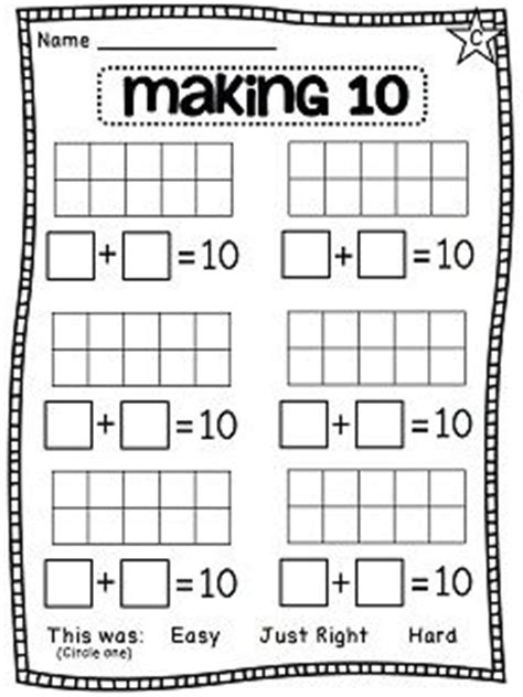 Complements Of 10 Worksheets by 1000 Images About Complements Of Ten On