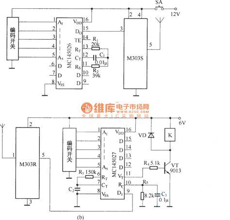 radio remote circuit diagram digital code remote switch circuit diagram