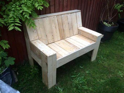 making a garden bench from pallets pallet garden bench 101 pallet ideas