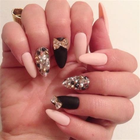 pattern nails tumblr cute nail ideas with sparkles amazingly cute nail