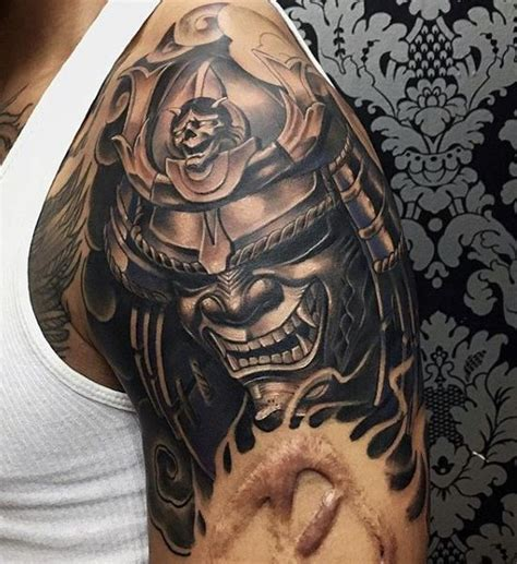 samurai helmet tattoo designs trends 100 japanese samurai mask designs