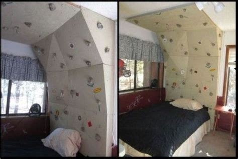 rock climbing wall bedroom studio apartment