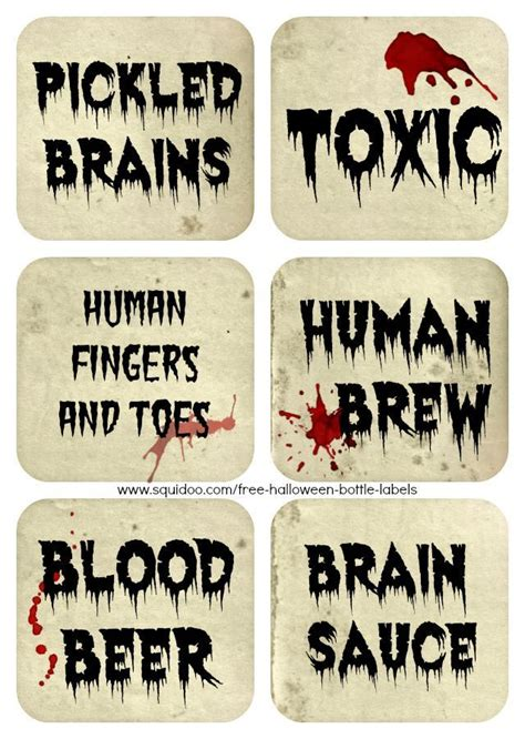 printable zombie labels 161 best images about halloween mad scientist and