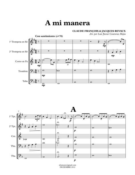mi tab themes jazz brass quintet sheet music free wedding sheet music