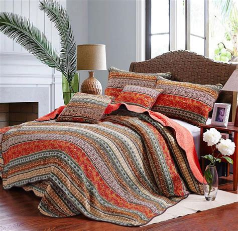 California Sprei King Orange multicolor comforters and quilts sale ease bedding with