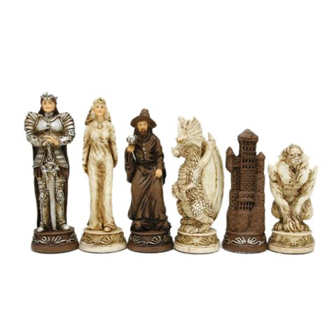 fantasy chess set fantasy chess checkers game set handpainted chessmen wood board with storage drawers 15 in