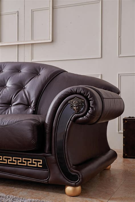 versace leather sofa barocco leather sofa sofas thesofa