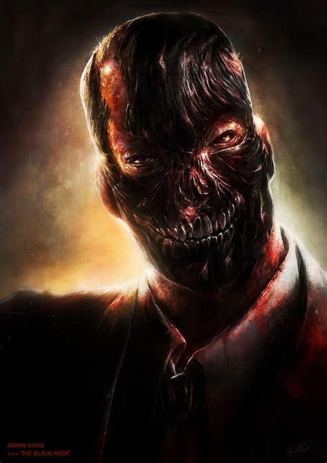 black mask luke mandie art batman fan art arkham portraits