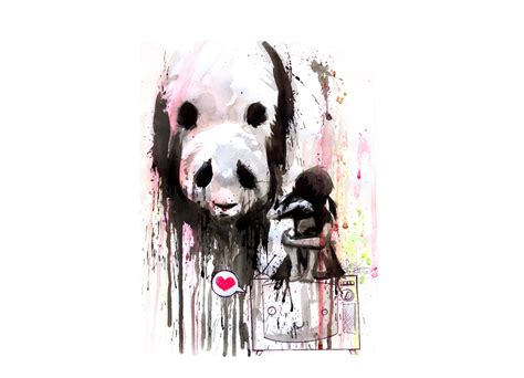 Bath Shower Accessories panda by lora zombie threadless