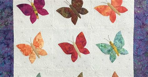 Busy Bees Patchwork - fabadashery longarm quilting butterfly quilt by