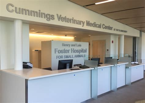 Hospital Reception Desk Fall 2016 Update Tufts Veterinary Hospitals Renovation