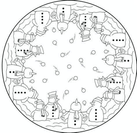 advanced winter coloring pages mandala snowmen christmas coloring pages colouring adult