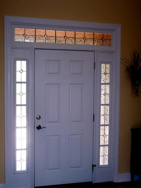 glasses with lights on the side home entrance door front door with sidelights